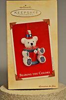 Hallmark - Bearing the Colors - Patriotic Teddy Bear - Ornament