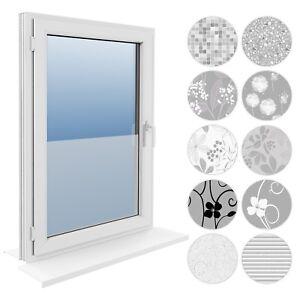 90 cm Fensterfolie Statische 8,89€/m² Sichtschutzfolie Milchglasfolie Glasdekor