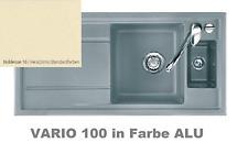 SystemCeram KeraDomo VARIO100 Noblesse 100x51 Keramikspüle inkl. Zubeh.& Bohrung