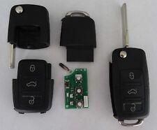 433Mhz Auto Schlüssel 3-Tasten Fernbedienung für VW ID48 Transponder 1K0959753G