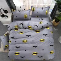 Batman Mask Bedding Set Four-Piece Fitted Sheet Duvet Cover+Sheet+2 Pillow Case