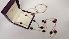 Tomassa amethyst INDIAN SUMMER AMETHYST MULTI STONE NECKLACE and Bangle set of 2