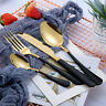 4 Pcs/Set Stainless Steel Dinnerware Cutlery Gold Plated Knife Fork Spoon Kit