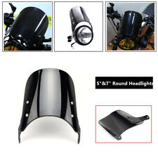 "Motorcycle Front 5"" 7"" Round Headlights Windshield Windscreen Kit Dirt Bike ATV"