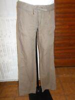 Pantalon coton/lin marron léger TOMMY HILFIGER W29 L34  38/40 lien à nouer 18AO3