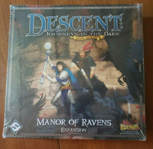 Descent Journeys in the Dark 2nd Ed Manor of Ravens Expansion Sealed NIB New