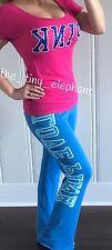 Victoria Secret Pink Patch 86 Animal Graphic Tee Shirt Flare Sweatpants Set S VS