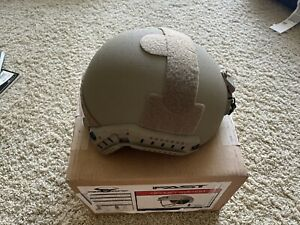 Ops-Core FAST High Cut Ballistic Helmet Size Large - Urban Tan With New MBS