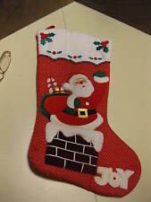 Two Santa, Chimney Christmas Stocking