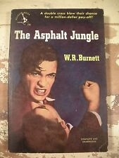 THE ASPHALT JUNGLE W R BURNETT Pocket Books 714 1948 1st Crime Drama Mystery
