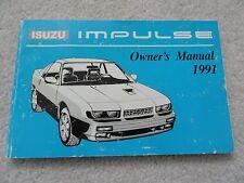 1991 Isuzu Impulse Owners Manual