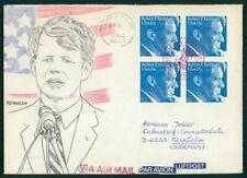 USA UMSCHLAG HANDGEMALT !! 1980 ROBERT KENNEDY UNIKAT !! UNIQUE !! el58