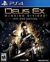 Deus Ex: Mankind Divided - Day One Edition PlayStation 4 Adult Owned PS4