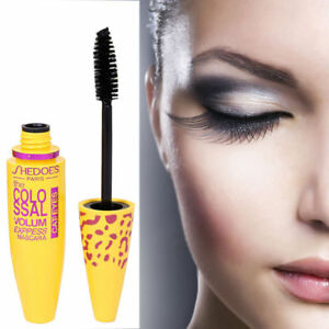 3D Extension Eyelashes Curling Volume Thick Long Waterproof Mascara Makeup Black