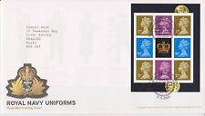 GB ROYAL MAIL FDC COVER 2009 ROYAL NAVY UNIFORMS PRESTIGE PANE PORTSMOUTH PM