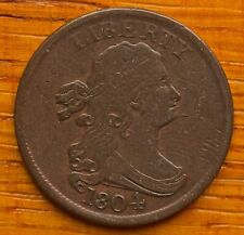 1804 Half Cent Spike Chin with nice chocolate color.