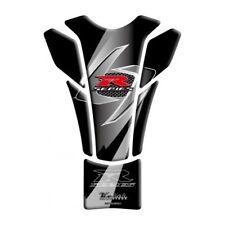 Keiti Protector de la etiqueta engomada de la Almohadilla De Tanque De Motocicleta Slimline | Suzuki y Negro (TSZ609K)