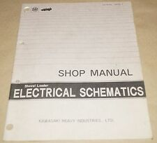 Kawasaki Shovel Loader Electrical Schematics Manual S0031-7