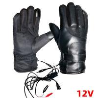 12V Motorrad Heizhandschuhe Beheizte Handschuhe Wasserdicht Warm Winter DE