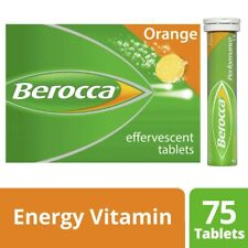 Berocca Orange Flavour Energy Vitamin 75 Effervescent Tablets 1 pack