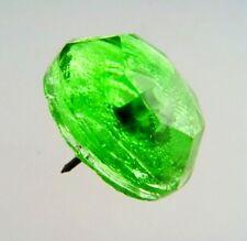 Gorgeous Green Handcut Glass Push Pin / Picture Rail Hanger PP24