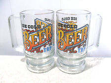 2pcs~GLASSES/MUGS/STEINS w HANDLES *ICE COLD BEER ON TAP*