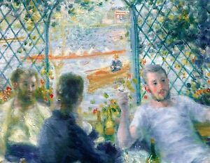 Renoir 1875, Luncheon at La Fournaise, Fade Resistant HD Art Print or Canvas