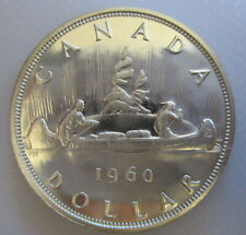 1960 CANADA VOYAGEUR SILVER DOLLAR PROOF-LIKE COIN