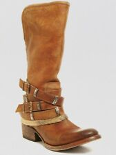 Freebird by Steven Steve Madden Drove/ Drover Tall Boots Distressed Tan Size 8