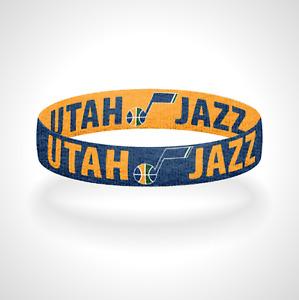 Reversible Utah Jazz Bracelet Wristband Take Note