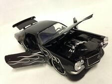 "1971 Chevy Camaro, 8"" Metals Die Cast 1:24 Scale Collecible Jada Toy Black"