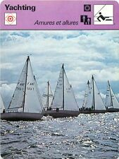 FICHE CARD Babord Amures & Tribord Amures l'Allure Vent Voilier Yacht 70s