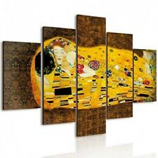 Lupia Vogue Quadro Multipannello Il Bacio di Klimt in Legno Multicolore 66x115cm