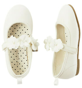 Carters Toddler Girl 5 White Shoes Dressy Mary Jane Worn once, perfect condition