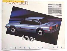 1986 Chevrolet Cavalier and Z24 RS Convertible Canada Car Brochure Catalog