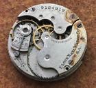 Vintage 1901 Elgin Grade 222 Pocket Watch Movement Parts/Repair 0s 7j NR