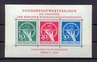 Berlin Block 1 Währungsgeschädigte Gummifehler geprüft Schlegel (vs333)
