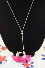 "37"" Lariat Necklace I.n.c. Pink Fabric-Flower"