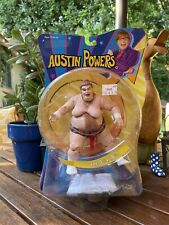 Austin Powers Sumo Fat Bastard Action Figure Mezco Toys 2002 vintage