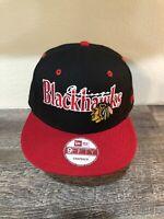 Chicago Blackhawks Hat NHL New Era 9Fifty Snapback Style New Vintage Cap NICE