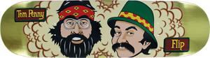 "Flip Skateboards Cheech & Chong 8"" 50th Anniversary Tom Penny Gold Foil Deck"