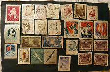 "POLONIA,POLAND,POLSKA, 1956-58 "" Lotto di 26 francobolli "" 11 set completi USED"