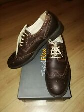 New Mens Real Leather Brown Brogues Shoes UK SIZE 10