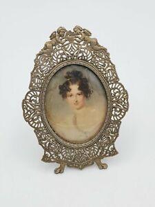 Vintage Ornate Gild Metal Picture Frame - Victorian -