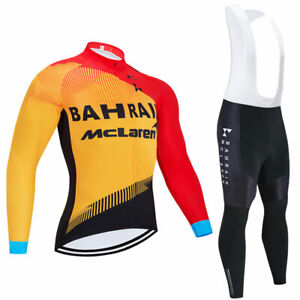 Man Cycling Clothes Jersey Pants Set Long Sleeve 3D Pad Bike Ride 2021