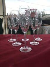 6 flûtes à Champagne cristal d'Arques modèle FLEURY taille épi (2 lots dispo)