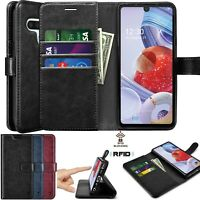 For LG Stylo 6 2020 Phone Case Leather Wallet RFID Blocking Stand Flip Cover