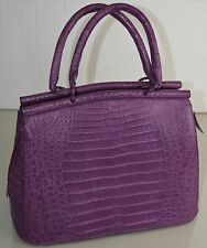NEW Nancy Gonzalez Purple Lilac CROCODILE LARGE Tote BAG Handbag