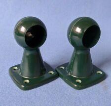 Pair of Hand Made Bandalasta 69 Bakelite towel rail brackets Dark Green