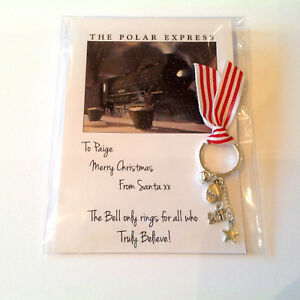 Polar Express Bell Personalised Key ring Christmas Eve box bell Stocking filler